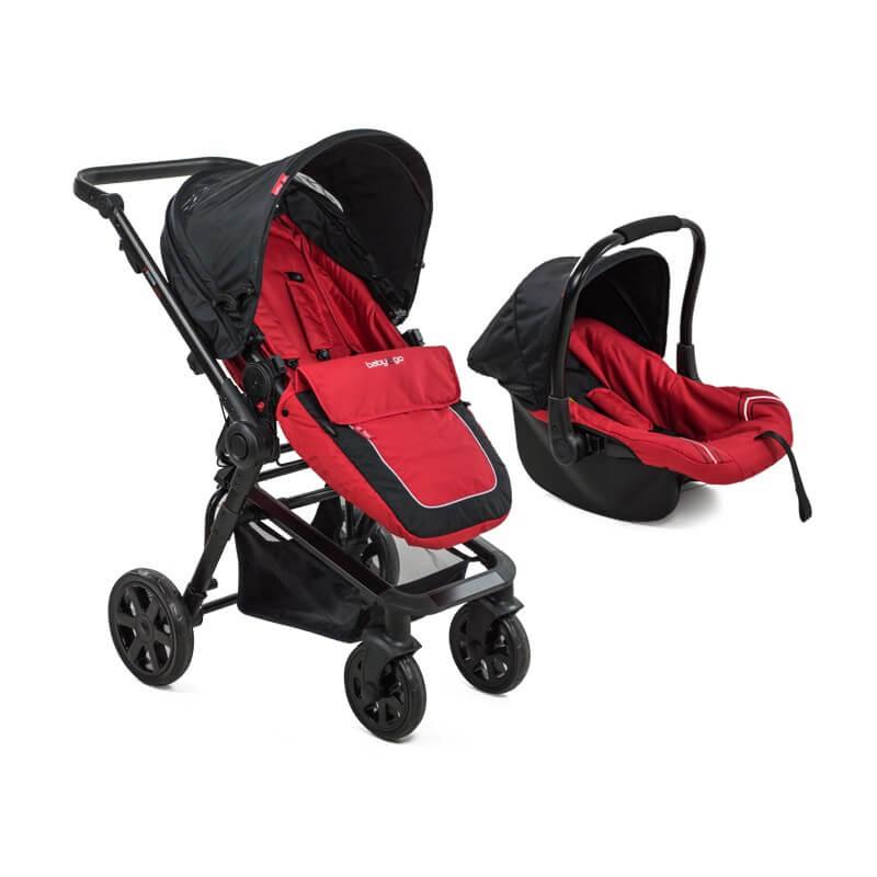 Carucior-copii-transformabil-BabyGo-rosu