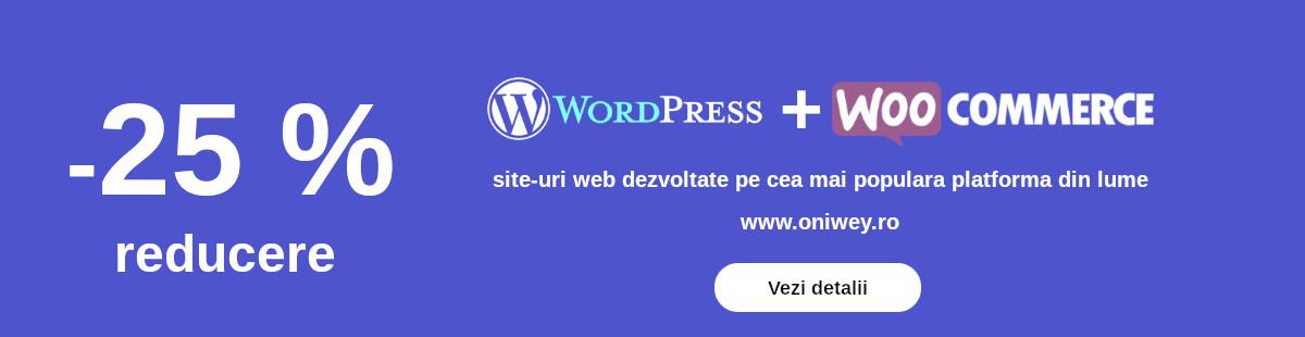 Reducere 25% la site-urile web - Oniwey.ro