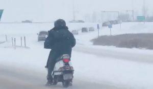 Folosirea in siguranta a scuterului pe timp de iarna