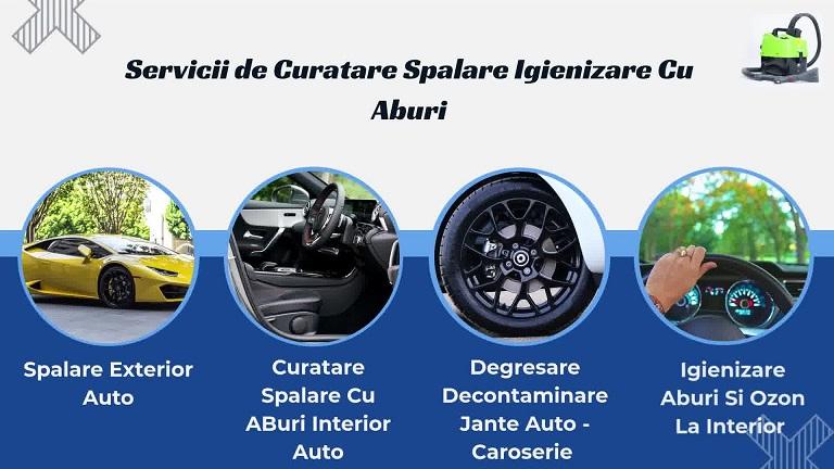 curatare tapiterie cu aburi auto interior igienizare spalare